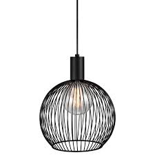modern black wire frame globe pendant light