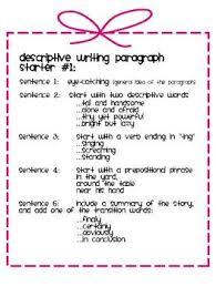 Lesson Plan descriptive essay Pinterest