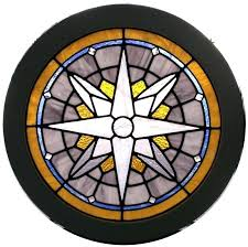 circle stained glass half window patterns hangings