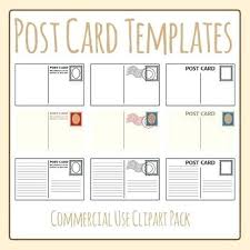 Postcard Template For Students Beautiful Of Blank Postcards ...