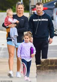David and Candice Warner cheer on their daughters Ivy Mae, six, and Indi  Rae, four, at tennis lesson   Daily Mail Online