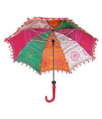 ... Folding Summer Rajasthani Umbrella Cotton Sequins Embroidered Work parasol  dcor