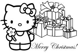 Hello Kitty Christmas Coloring Page free printable hello kitty coloring pages for kids on christmas coloring games online