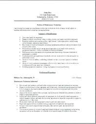 Maintenance Technician Resume Best Facilities Maintenance Technician Resume Sample Nanomedia Resume