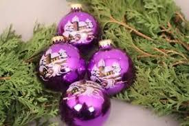 Details Zu Christbaumschmuck Weihnachtskugeln Lila Anhänger Glas Weihnachten Advent X Mas
