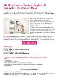 Formati Brochure Creare Volantini Online Pieghevoli 3 Ante My Brochure