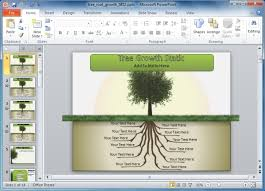 Tree Powerpoint Template Animated Tree Template For Powerpoint