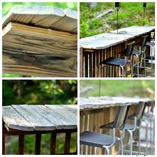 how to make a bar outdoor cleverly