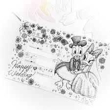 結婚式の招待状の返信アートとはディズニーのイラストの書き方は Belcy