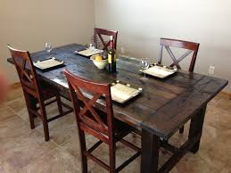 enchanting farmhouse style dining table ana white farm diy projects black tables room