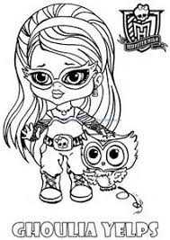 Small Picture High Dolls Baby Monster High Character Free Printable Coloring