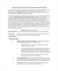 Speech Preparation Outline Example Draft Informative Rough Of About ...