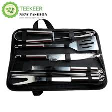 teekeer bbq grill tools set stainless steel utensils with aluminium case 9 barbecue accessories includes