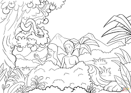 Small Picture Adam And Eve Tempted By The Serpent Coloring Page Within And