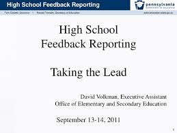Peo C4i Org Chart 2018 Ppt High School Feedback Reporting Taking The Lead David