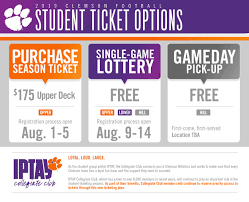 Make Free Tickets 2019 Football Student Tickets Clemson Tigers Official