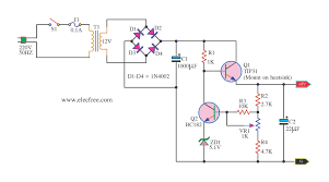 9v regulated power supply circuit using transistors and zener dc power supply 9 volt using tip31 transistor