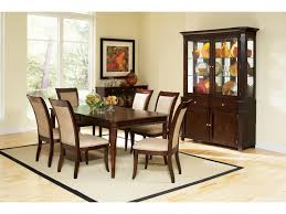 Steve Silver Marseille Transitional Glass Shelf China Buffet - Dining room table and china cabinet