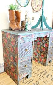 diy decoupage furniture. How To Decoupage A Desk - Refunk My Junk Furniture Makeover Girls Diy E