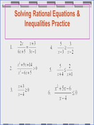 rational equations worksheet