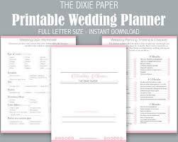 Printable Wedding Planner Printable Wedding Planner Wedding Planning Book Wedding