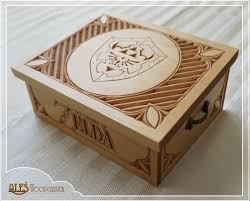 a little jewelry box with the legend of zelda theme i tried something new on the top and it worked out pretty good