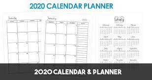 12 Months 2020 Calendar 2020 Planner Calendar Niche Raiders Printables