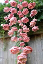 the felt flower chandelier