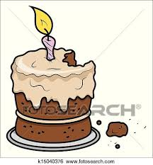 Cartoon Birthday Cake Vector Clip Art K15040376 Fotosearch