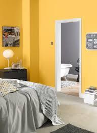 Orange And Grey Bedroom Yellow And Grey Bedroom Painted With Crown Solo One Coat Matt