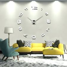 large clock wall sticker modern design clocks big watch home decor cool mirror oversized giant nz