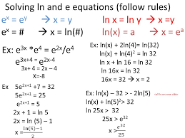 12 solving ln and e equations