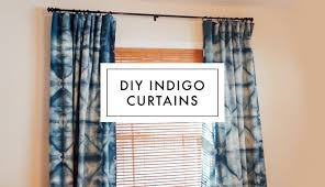 this is my attempt at making diy shibori indigo dyed curtains