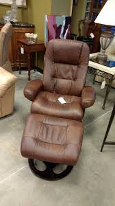 lane leather recliner with ottoman sold