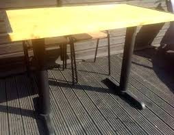 dining table with metal legs full size of wood coffee table metal legs slab reclaimed with dining table with metal legs