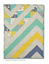 Chevron quilt, i like the colors and pattern! Mod Chevron Baby Quilt by  Coleman-Hale in the Premier Issue of GenQ Magazine