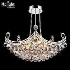 gorgeous ceiling lamp flush mount crystal lighting for foyer villa dining room restaurant silver iron base