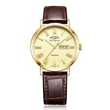 rotary day date watch rotary windsor men s day date gold plated swiss watch gs90156 09 £123 95