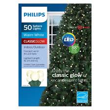 Philips String Lights Philips 50ct Christmas Led Smooth Sphere String Lights Warm White Gw 3 Sizes