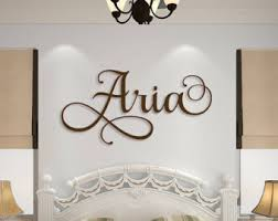 Wooden Name Sign Wall Hanging Letters for Nursery or Bedroom - Wooden Wall  Art - Custom