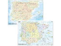 Il portogallo presenta una serie di altipiani che digradano verso il mare. Cartina Geografica A3 Spagna Portogallo Plastificata Belletti Lagicart