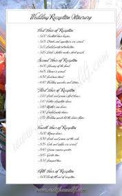 Program Of Events Sample Wedding Ceremony Itinerary Bridal Parties Wedding Photo Wedding
