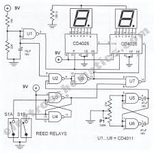digital tachometer circuit for bikes bike digital tachometer circuit schematic