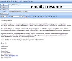 How To Email A Resume Businessletter2000