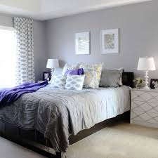 soft purple and grey bedroom