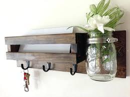 wall mounted key holder with shelf decoration wall mounted key