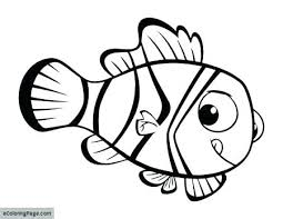 Finding Nemo Characters Coloring Pages Summer Coloring Pages For