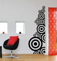 nonsensical art wall decals minimalist design decal black white circle pattern es family large office small