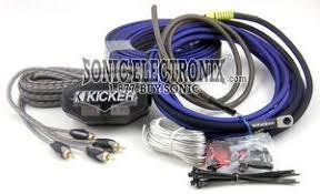 kicker ck complete gauge channel amplifier installation kit kicker ck8