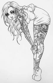 I can draw a page just for you. Adult Tattoo Coloring Pages Coloring Pages Of Tattoos